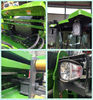 Green Heavy Construction Machinery , 1600kg Load Mini Backhoe Wheel Loader