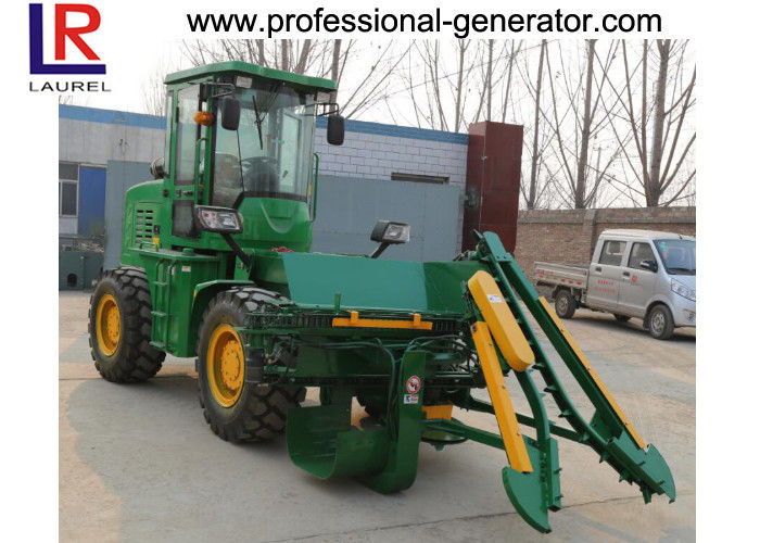 Hydraulic Transmission Sugar Cane Harvester , 4 Wheel Driving Agriculture Farm Machinery