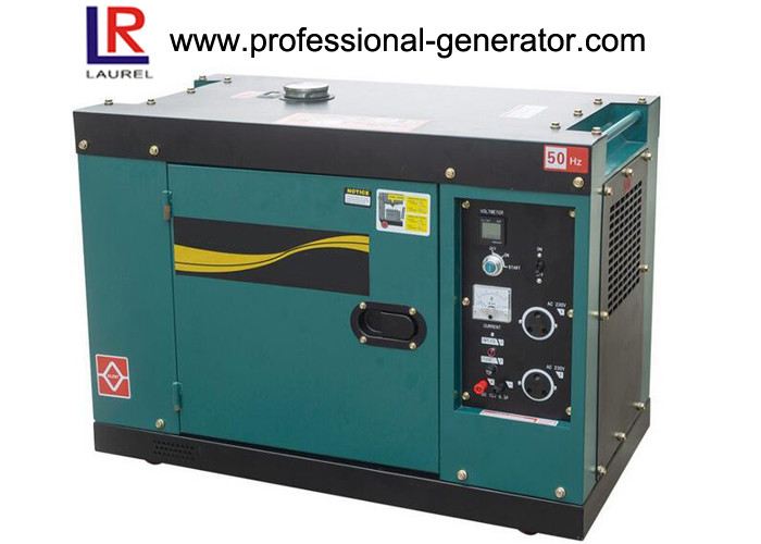 Air Cooled 5.5kw Silent Diesel Generator Set with Three Phase Electric Start