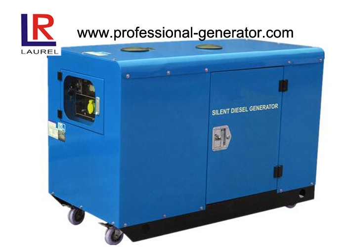 CE Silent Diesel Generator Set 10kv with AC Three Phase , Four Color Available