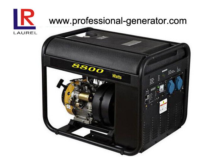 Plastic Fuel Tank 8 KW Inverter Gasoline Air-cooled Generator OHV