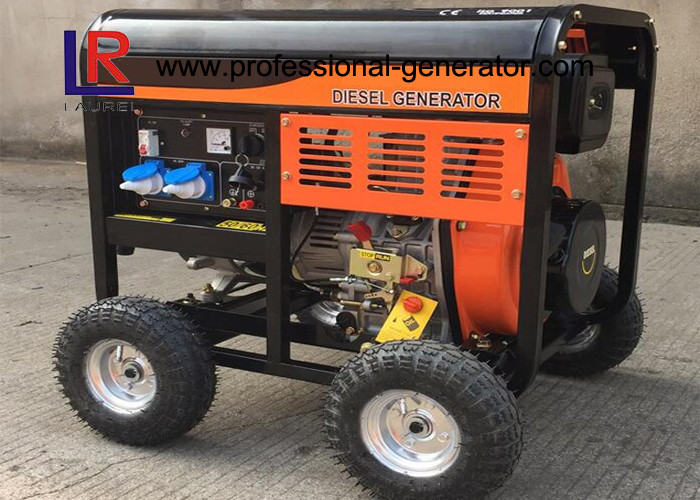 4.5kw Diesel Driven Generator with Recoil / Electric Start / Centrifugal Weight System