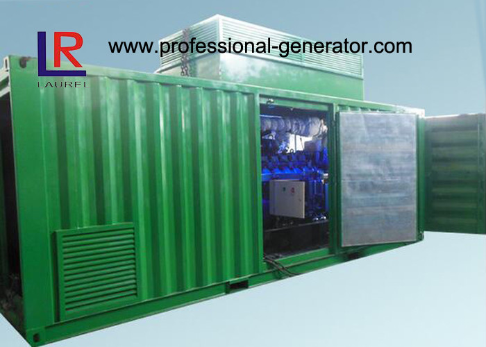 8 Cylinder AVR Brushless Natural Gas Generators Cogeneration Set 500kw with NPT Patent