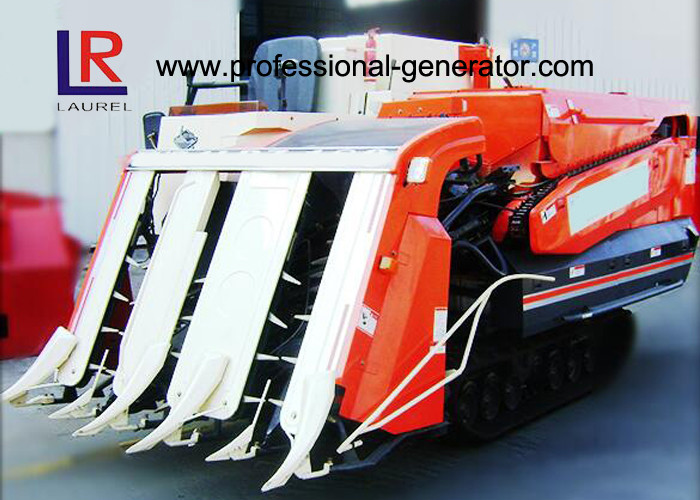 Semi - Feed Vertical Threshing Mini Paddy Agricultural Equipment Combine Harvester Track Type