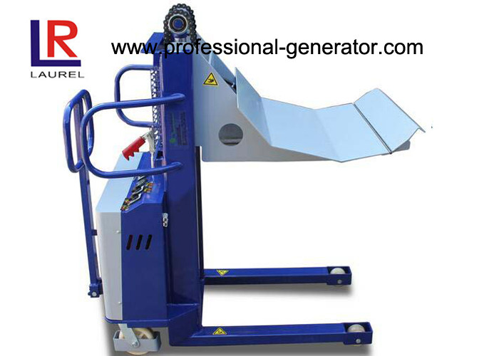 841mm Lift Blue 1000kg Capacity Roll Electric Pallet Stacker For Casing Film Rolls
