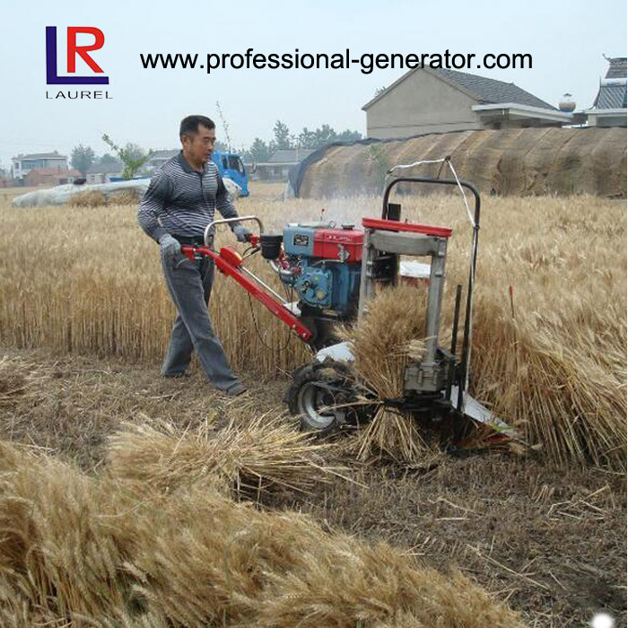 8HP 5KW Wheat Reaper Binder Harvester with water cooling diesel engine
